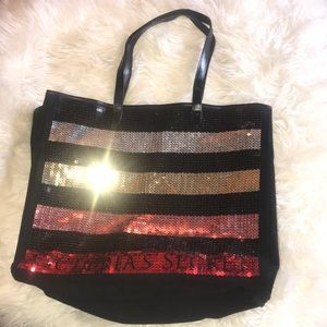 VICTORIA SECRET SEQUINS MULTICOLOR TOTE